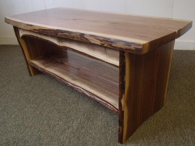 Black Walnut Bench And Coffee Table