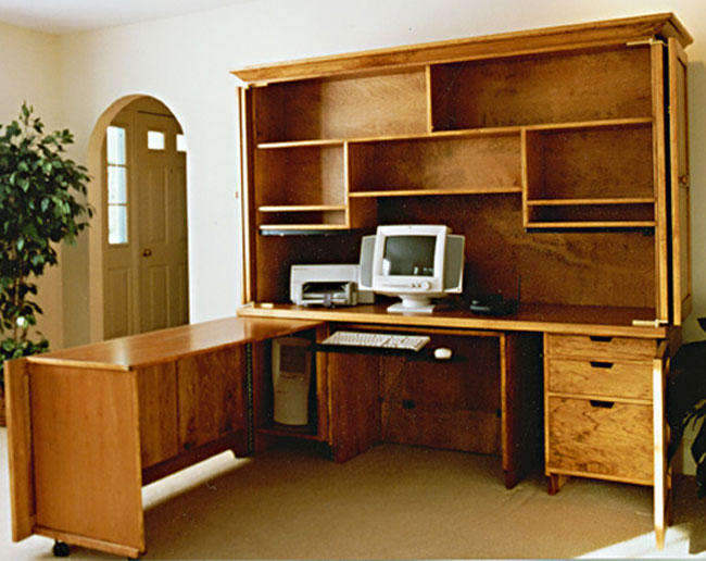 Home office unit Ikea Home Office Unit Open Wilson Woodworking Shaker Furniture Traditional And Contemporary Wilson Woodworking Shaker Furniture Traditional And Contemporary